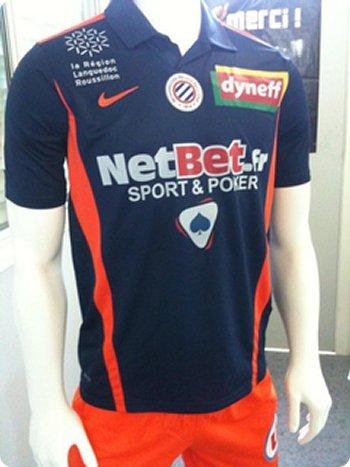 Maillot Montpellier Domicile Saison 2010-2011