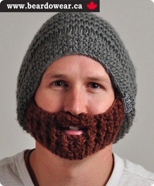 Le bonnet,barbe  pour sortir incognito. Ou rester chez vous et voir si la barbe vous va. Disponible en France sur Super,Insolite à 41.90 \u20ac.