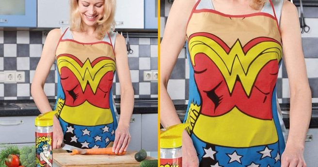 Un tablier Wonder Woman