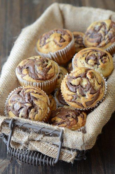 muffin banane nutella