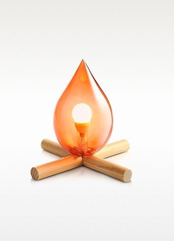 Lampe feu de bois