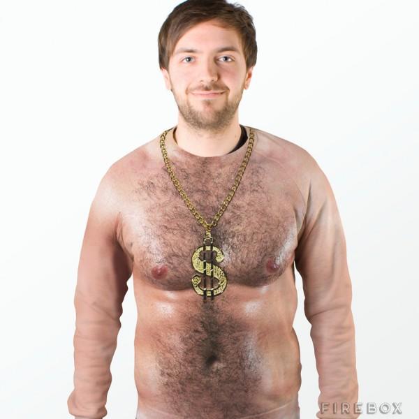 t shirt poilu