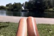 hot dog legs une
