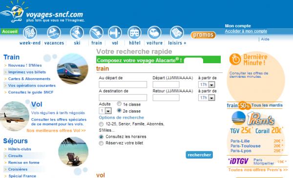 Bienvenue sur Voyages-sncf.com - agence de voyages, billets de train et d'avion, voiture de location, chambre d'hotel