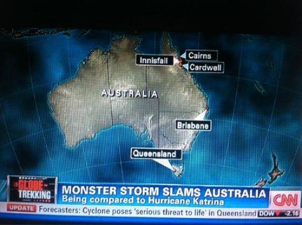 Le Queensland pas en AUstralie