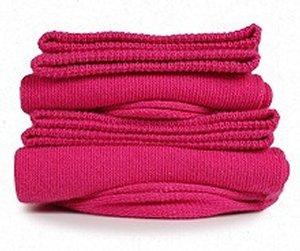 chaussettes-rose-framboise