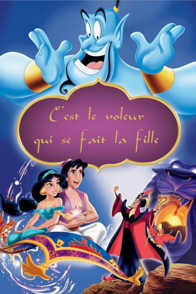 Aladdin l'affiche honnête par Brian Gisborn