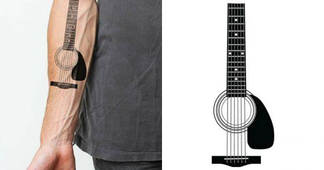 Un Tatouage Temporaire Guitare Acoustique Topito