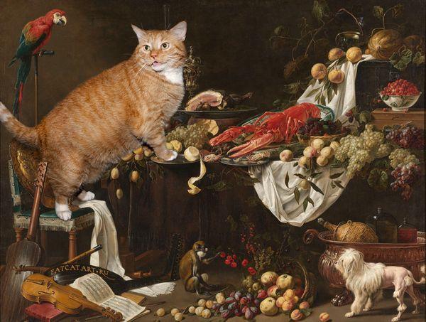 Adriaen-van-Utrecht-Still-life-cat-w_resultat
