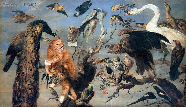 Frans-Snyders-Concert-of-Birds-cat-w_resultat