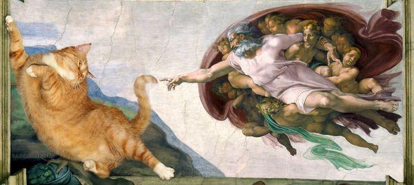 Michelangelo_-_Creation_of_cAt-dam-cat-w1_resultat
