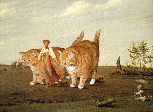 Venetsianov_Aleksey-In-the-ploughed-field-cat_w_resultat