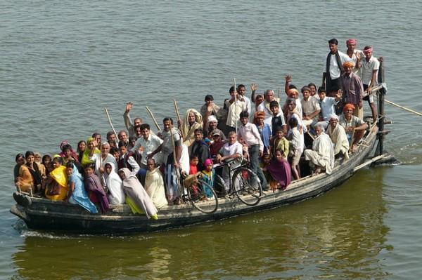 Ganga Ferry near Buxar, Bihar India