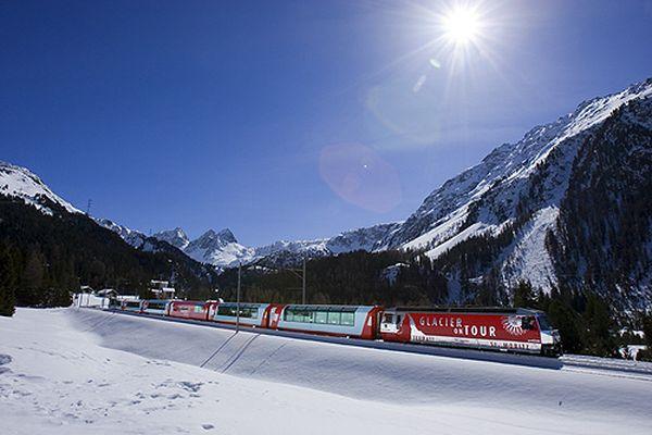 Glacier Express bei Preda