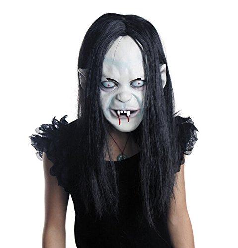 un masque de fille aux cheveux gras comme dans les films d 39 horreur japonais topito. Black Bedroom Furniture Sets. Home Design Ideas
