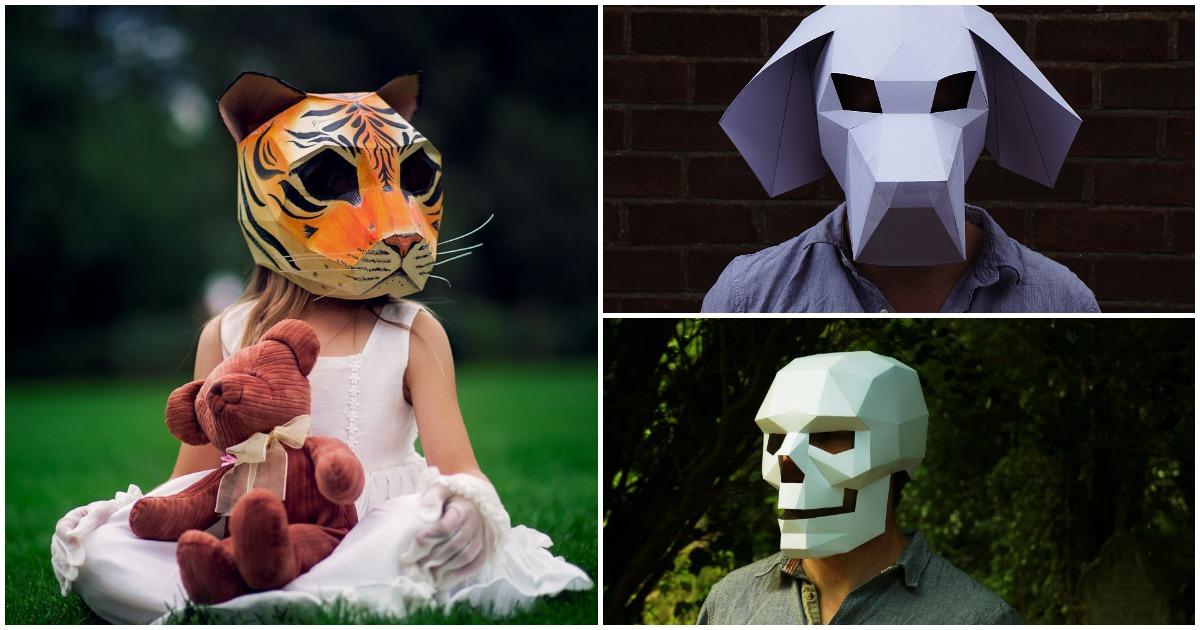 Fabriquer un masque en carton - Idee deco halloween a faire soi meme ...