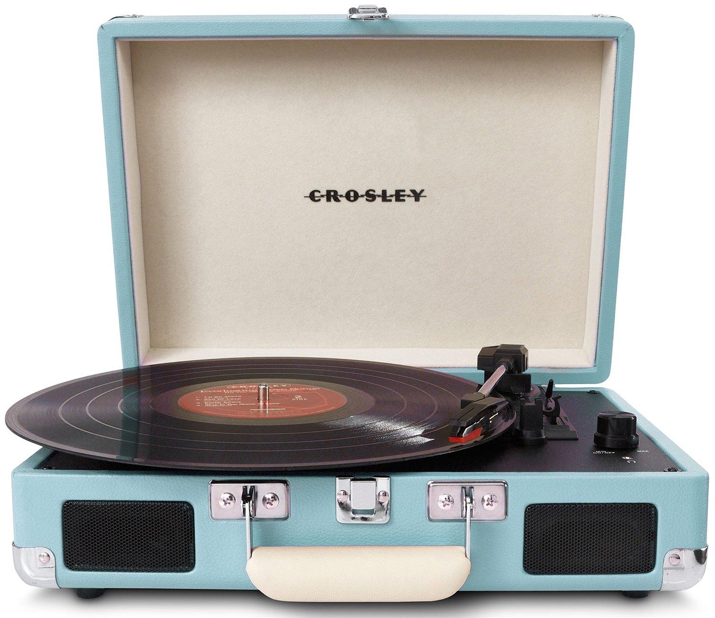 Une platine vinyle au design r tro dans une malette topito - Platine vinyle design ...