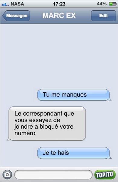 sms-bloqué
