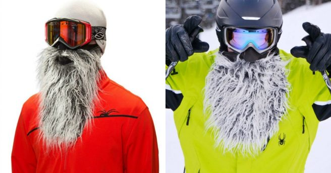 Un masque de ski barbe de yeti