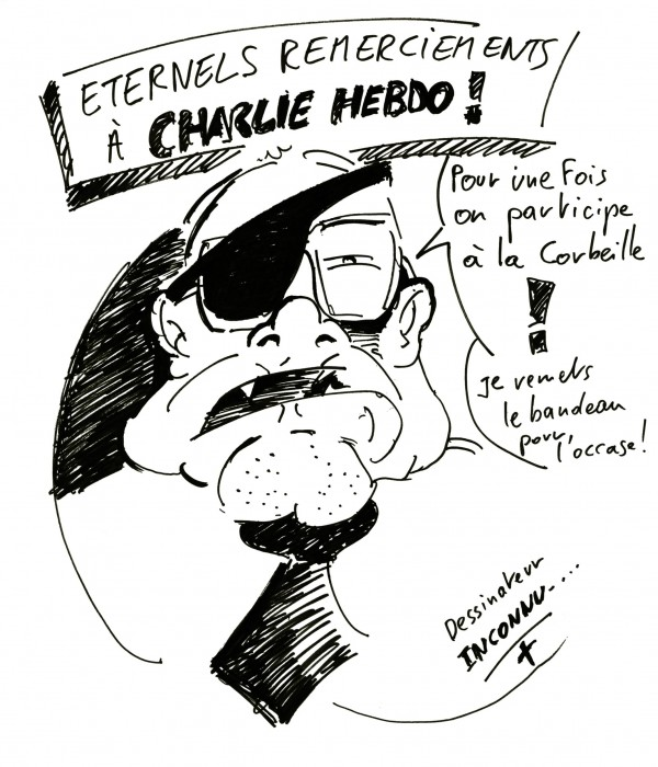 Hommage inconnu à Charlie HEBDO