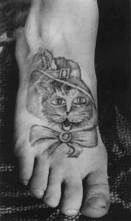 Тюремные тату коты