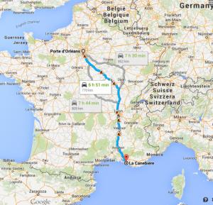 Porte d Orléans  Paris à La Canebière  13001 Marseille   GoogleMaps