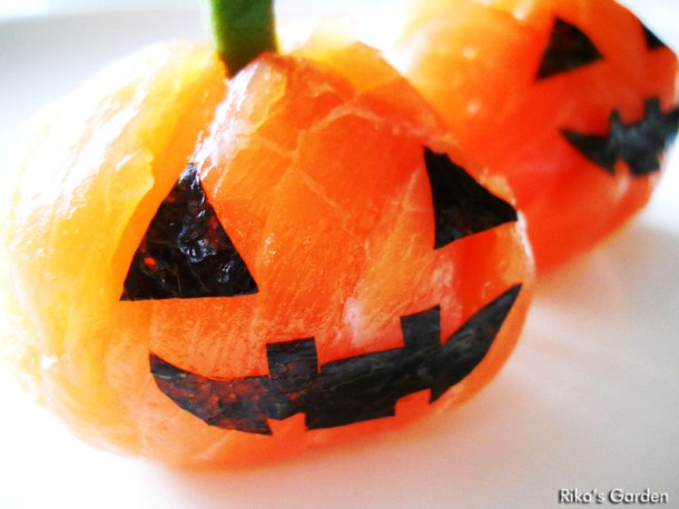 rikasgarden.blogspot.com-Halloween-Temari-sushi-zucca