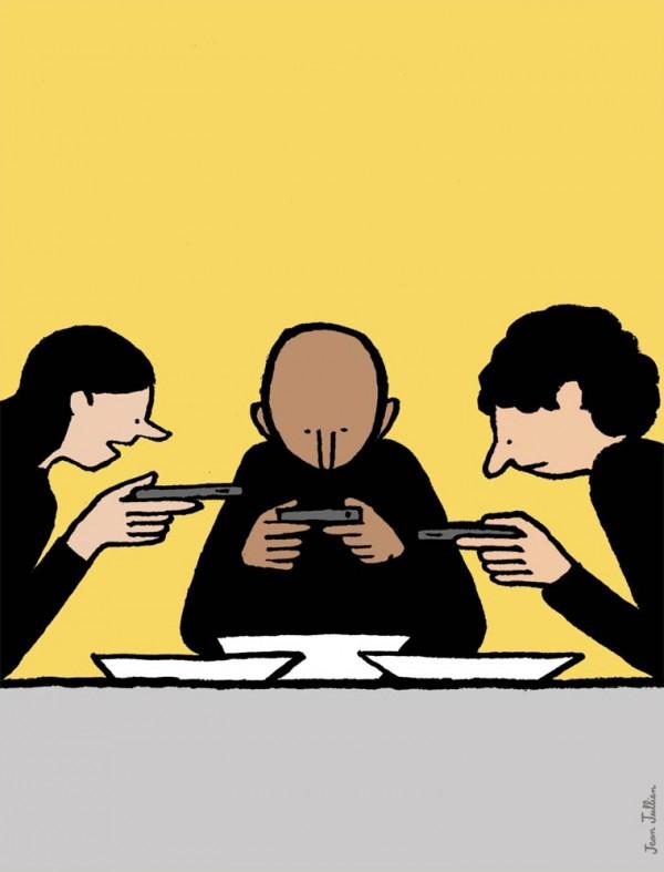 Jean-Jullien-illustrations-smartphone-diner