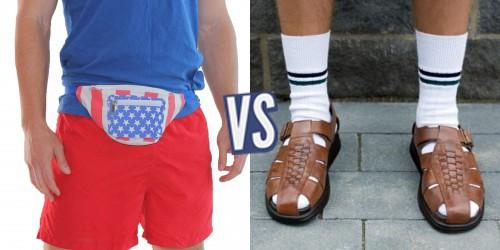 battle sac banane ou sandales chaussettes