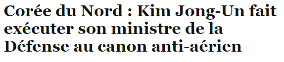 ministre défnse kim jong un