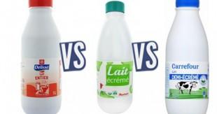 difference entre lait ecreme et demi ecreme