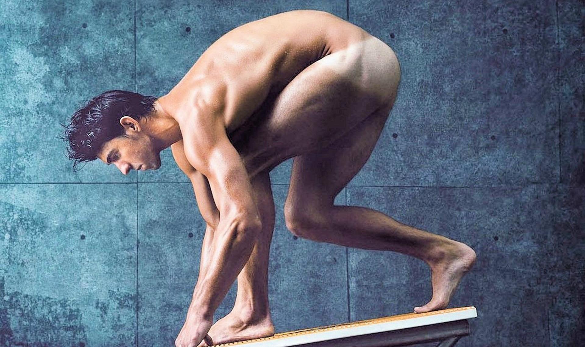 Photo des athlètes nus