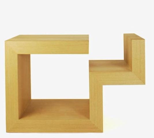 Bureau design original - en bois - avec rangement intégré - pour enfant - B-URO by Anita Nevens - COLECT
