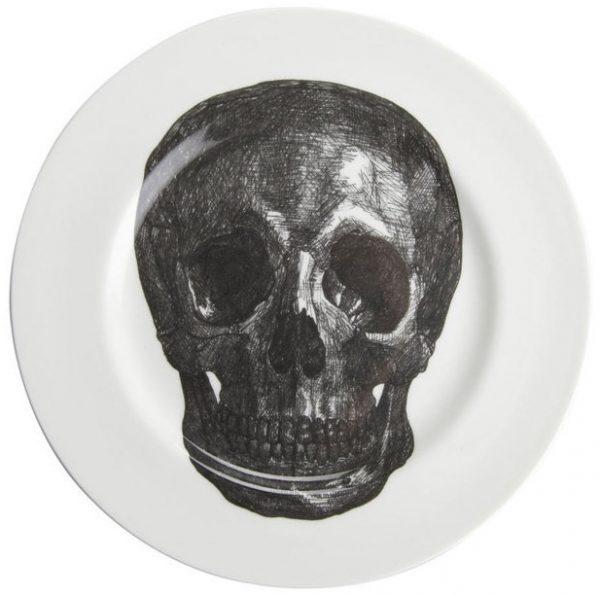 skull-dinner-plate-bone-china-phoebe-richardson