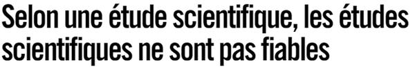 etude scientifique fiable_resultat