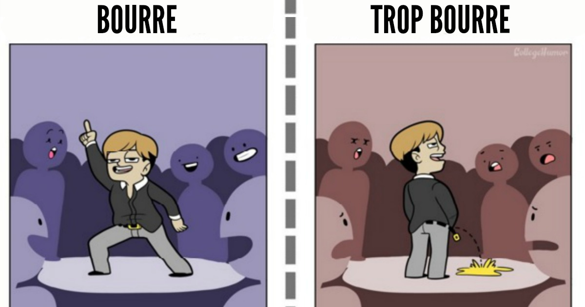 Top 7 des différences entre bourré et (beaucoup) trop bourré en illustrations