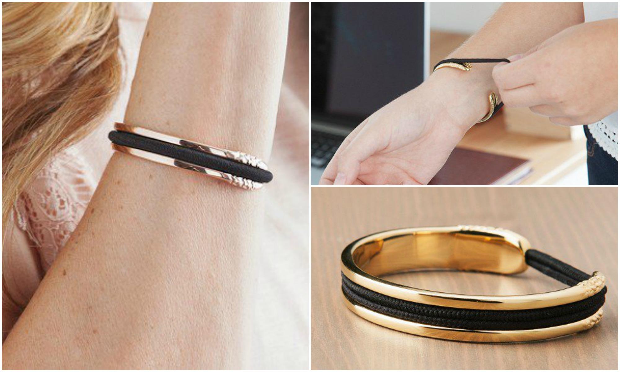 un bracelet pour ranger son lastique cheveux topito. Black Bedroom Furniture Sets. Home Design Ideas