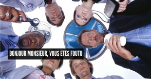 HOUSE:  A brilliant team of doctors provides a new take on mystery, where the villain is a medical malady and the hero is a doctor who trusts no one, least of all his patients.  HOUSE premieres Tuesday, November 16 on FOX.  Pictured Clockwise from center:  Hugh Laurie, Jesse Spencer, Lisa Edelstein, Omar Epps, Robert Sean Leonard, Jennifer Morrison.  ™©2004 FOX BROADCASTING COMPANY.  Cr:  Nigel Parry/FOX.