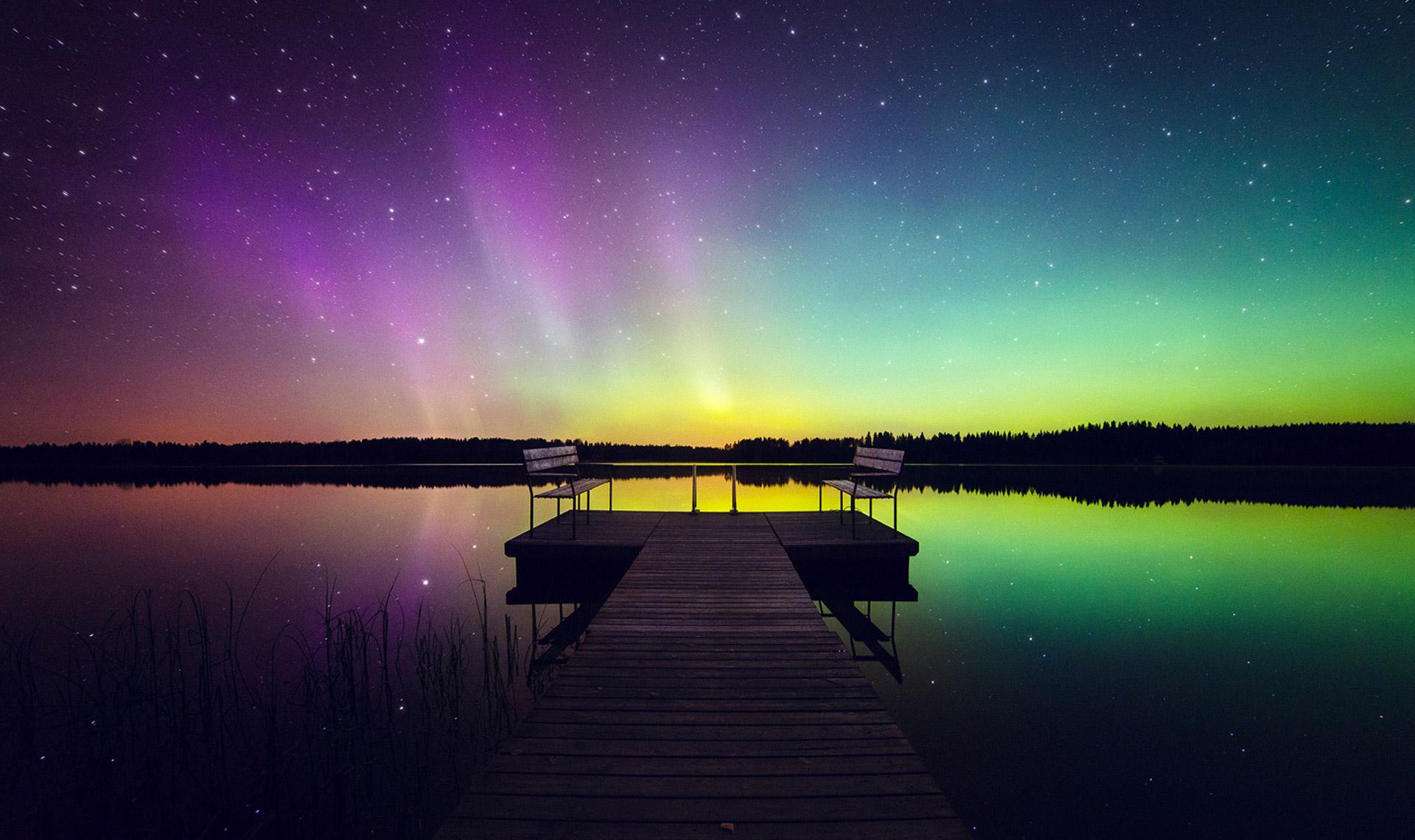 top 12 des plus belles photos d 39 aurores bor ales en finlande pour des couleurs plein les yeux. Black Bedroom Furniture Sets. Home Design Ideas