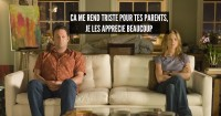 """MOVIE: Former lovers, now hostile roommates, bus tour guide Gary (VINCE VAUGHN) and art dealer Brooke (JENNIFER ANISTON) """"share"""" a quiet moment in the romantic comedy """"The Break-Up"""". Credit: Melissa Moseley / Universal. DOWNLOADED FROM IMAGE.NET."""