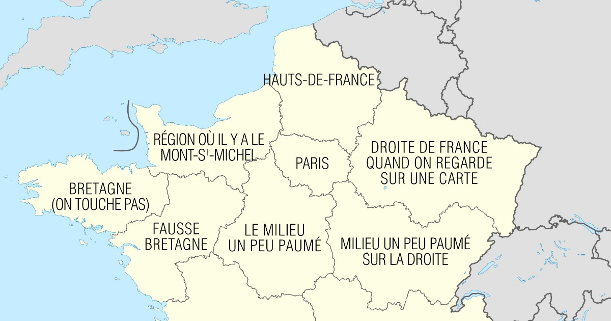 Top 13 des nouveaux noms de r gions de france la con comme a c est plus c - Region la plus sure de france ...