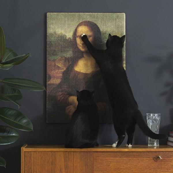 un grattoir pour chat de la joconde uniquement pour les vrais artistes topito. Black Bedroom Furniture Sets. Home Design Ideas