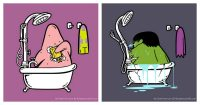 Super-héros bain