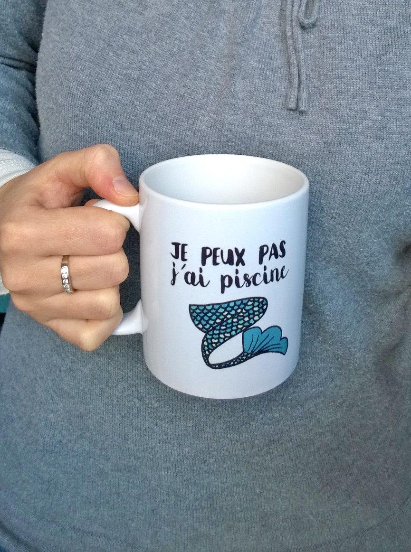 un mug je peux pas j 39 ai piscine car vous tes une vraie sir ne topito. Black Bedroom Furniture Sets. Home Design Ideas
