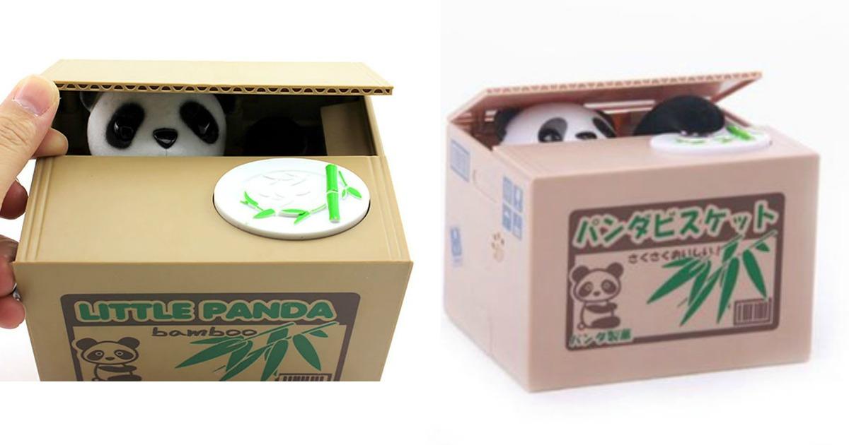 une tirelire panda qui vole ton argent pour ceux qui veulent conomiser facilement topito. Black Bedroom Furniture Sets. Home Design Ideas