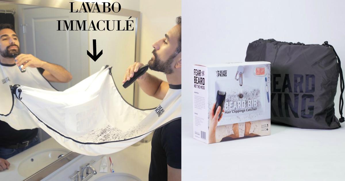 un bavoir barbe pour ne plus mettre des poils partout. Black Bedroom Furniture Sets. Home Design Ideas