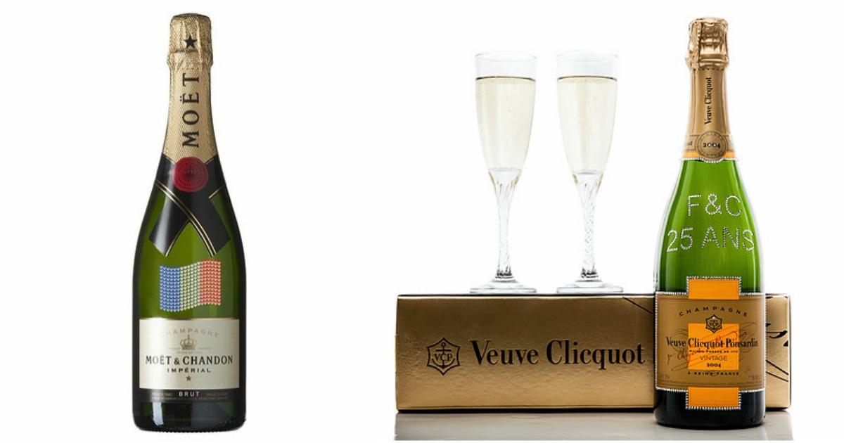 Une bouteille de champagne personnalis e aux cristaux swarovski topito - Combien de bouteille de champagne par personne ...