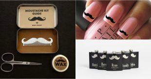 collage moustache