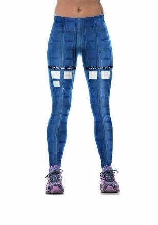 La Police Célèbre Boîte Legging Bleu Grille Collants Jeggings De Formation Pour Les Femmes- Amazon.fr- Vêtements et accessoires