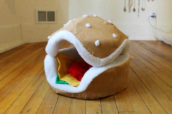 panier chat burger